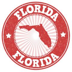 Florida grunge stamp