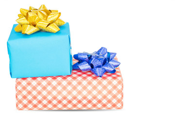 gift box on white background and clipping part