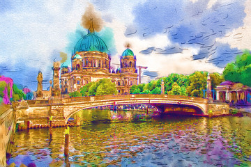 Berlin art illustration