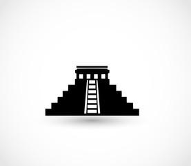 Aztec pyramid icon vector