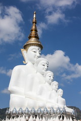 White Big Buddha statue at Phasorn Kaew Temple, Phetchabun, Thailand