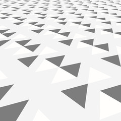 Diagonal gray triangle tile walkway texture with a perspective or web background