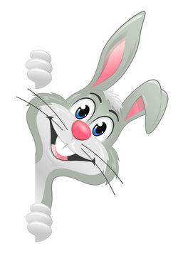 White easter bunny banner side