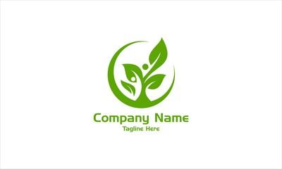 Green Life Healthy Logo Vector