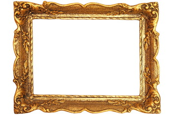 decorated antique painting frame