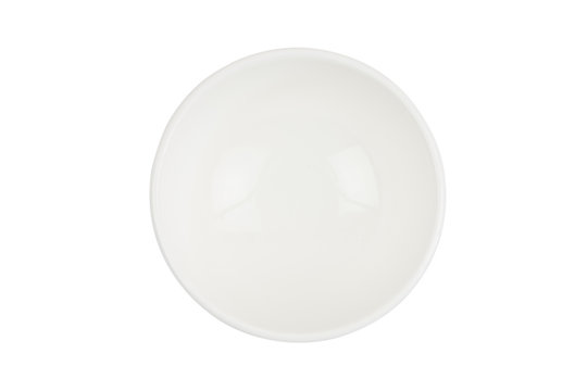 Empty bowl on a white background