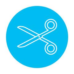 Scissors line icon.