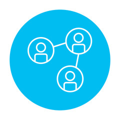 Social network line icon.