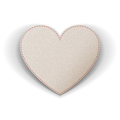 Valentines Day realistic white Heart greeting Card