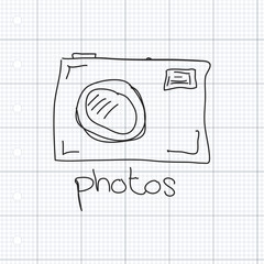 Simple doodle of a camera