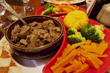 Beef Ireland stew with vegetables