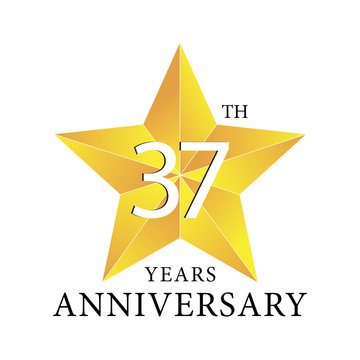 37th years anniversary star