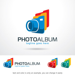 Photo Album Logo Template Design Vector