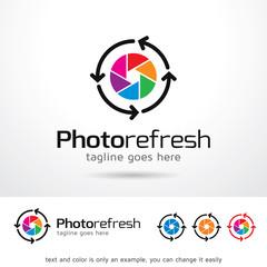 Photo Refresh Logo Template Design Vector