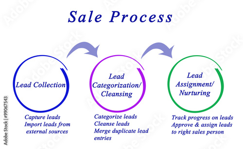 diagram of sale process stock photo and royalty free images on
