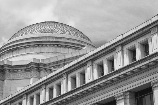 Exterior architecture of the Smithsonian National Museum of Natural History