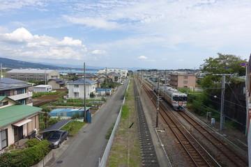 a rural train in Japan