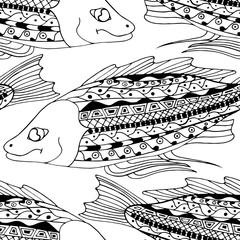 Zentangle fish background