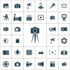 photography icons universal set