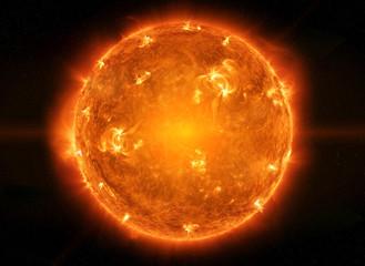 Powerful Sun in space