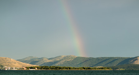Beautiful seascape and rainbow
