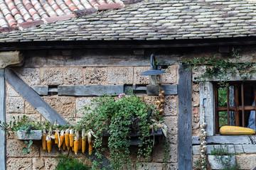 Aged stone cottage
