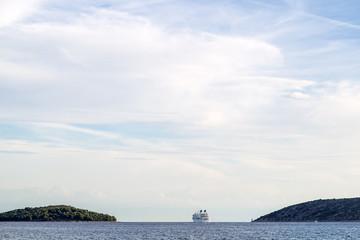 Beautiful seascape and ocean liner