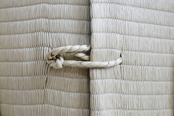 Rope with knot background texture