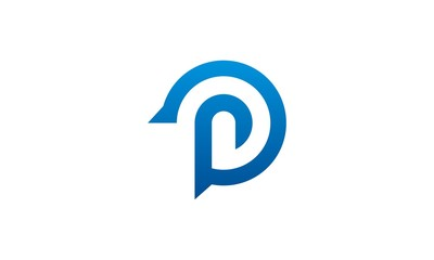 round letter P vector logo