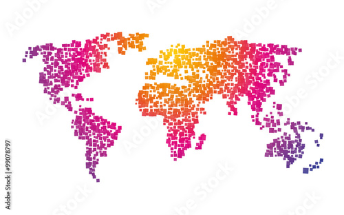 World map squares color gradient stock image and royalty free world map squares color gradient gumiabroncs Images