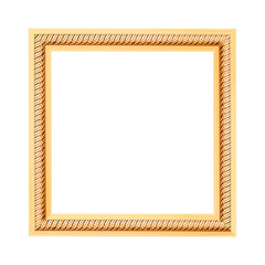 Frame engraved isolated on white background.