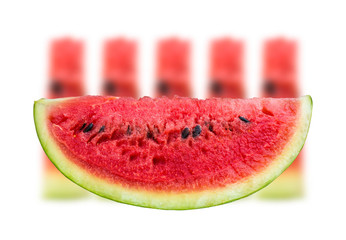 Watermelon isolated white background