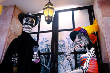 Traditional Mexican sculptures. Day of the Dead, Mexico, Latin A