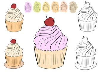 Set with cake