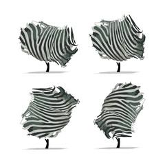 Zebra tree for your design