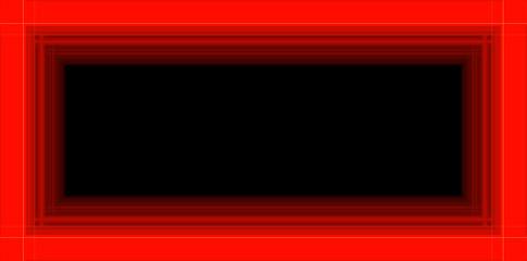 Cornice rossa su fondo nero