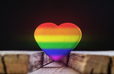 Heart With Rainbow Colors. Symbol Of LGBT.