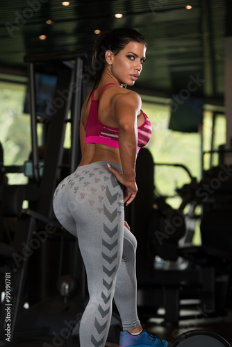 Sexy Mexican Woman Resting In The Gym