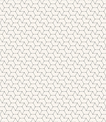chevron outline pattern with small dots on corners.