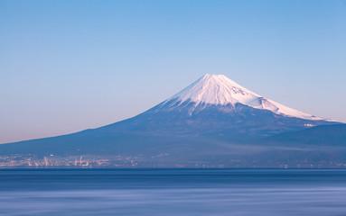 Mountain Fuji and sea from Izu city Shizuoka prefecture , Japan . Wall mural