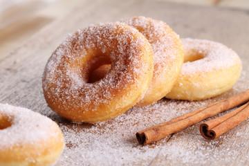 Homemade Sugar Doughnuts.