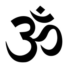 Om / Aum - symbol of Hinduism flat icon for apps and websites