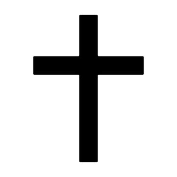 Christian cross - symbol of Christianity flat icon for apps and websites