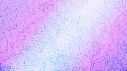 Rose Floral Pattern Background Texture Vintage Style for Furniture Material