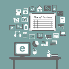business icons in office