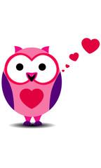 Cartoon owls in love. EPS 10.