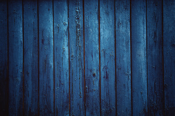 Blue Grunge Wood Grain Texture Background. the dark background