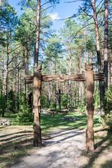 "Wooden sculpture. Museum ""Forest echoes» (Girios aidas). Druskin"