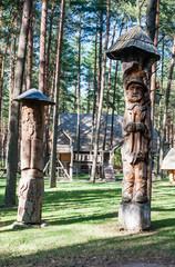 "Wooden sculpture. Museum ""Forest echoes» (Girios aidas). Druskininkai, Lithuania"