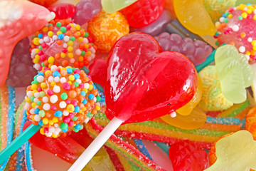 A lot of colorful colorful candies for background